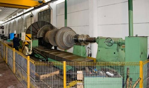 Tornitura rotore turbina vapore 40 MW