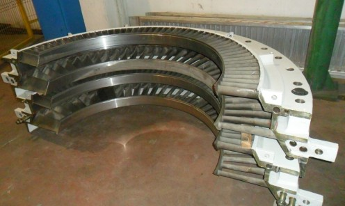 Ricondizionamento completo parti statoriche turbina a vapore 40 MW
