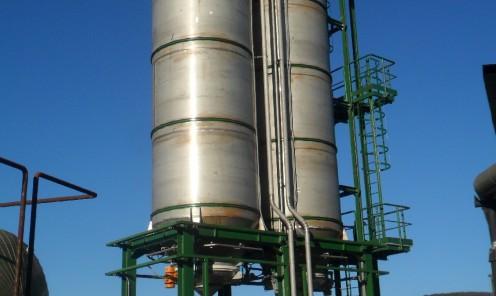 Costruzione e montaggio impianto stoccaggio e dosaggio carbonato di soda