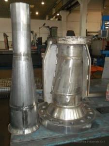 Costruzione tubazioni adattatori in pressione per combustori gas in acciaio inossidabile collaudate e certificate CE