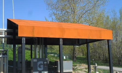 Costruzione e montaggio in opera strutture metalliche di copertura in lamiera COR TEN