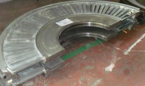 Ricondizionamento completo parti statoriche turbina a vapore 60 MW