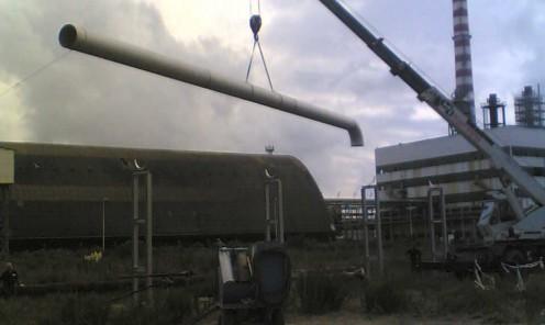 Realizzazione tubazione di scarico acque reflue decantatore in acciaio inossidabile