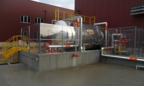 Realizzazione completa nuovo impianto per stoccaggio e dosaggio acido solforico