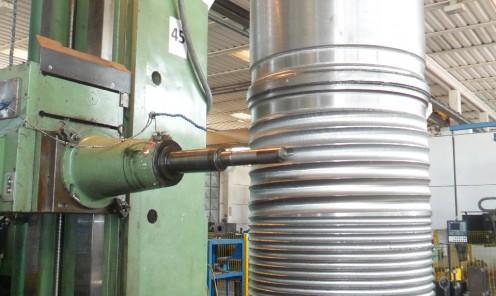 Lavorazione tamburo avvolgicavo per argano di sollevamento scaricatore 80 mt carbone fossile