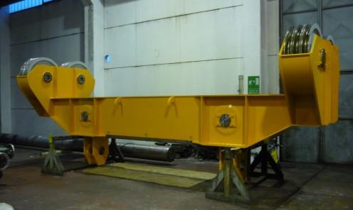 Costruzione traversa di sollevamento completa per carroponte acciaieria portata 160 tons